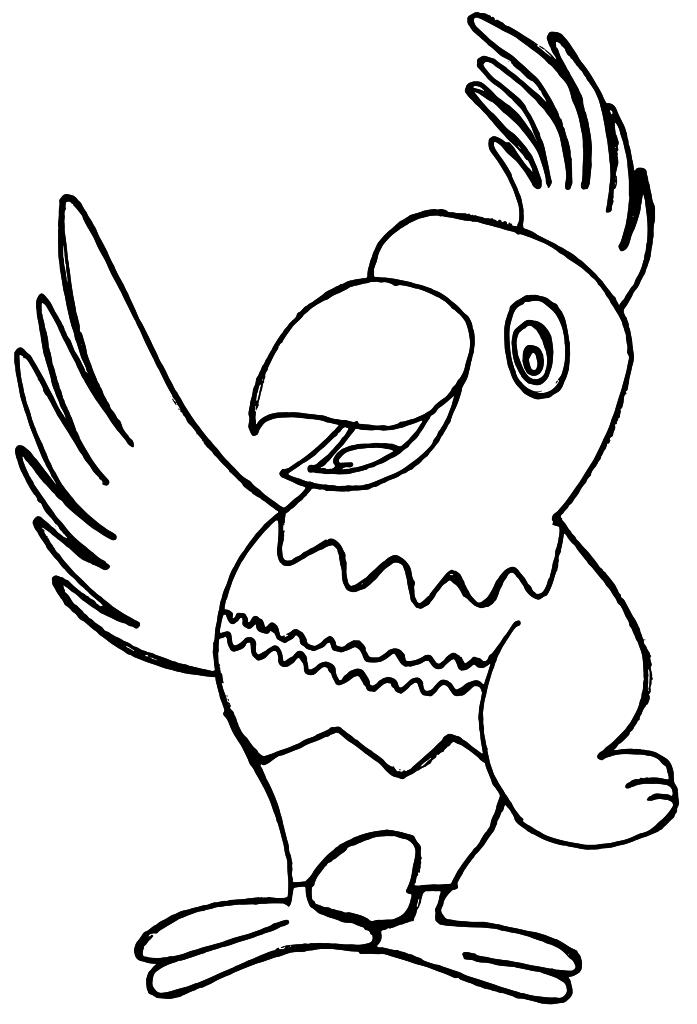 bunter papagei - nadines ausmalbilder