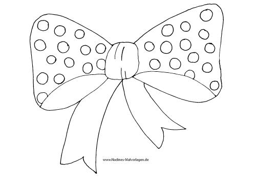 Ausmalbild Fliege/Schleife mit Punkten