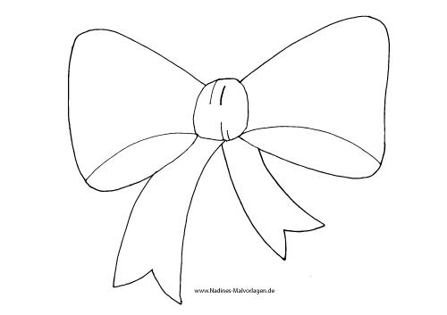 Ausmalbild Fliege/Schleife