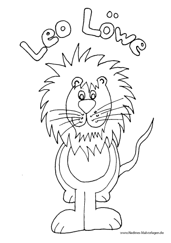 leo löwe mit mähne  nadines ausmalbilder