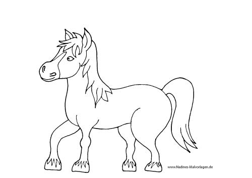 pferd mit mähne  nadines ausmalbilder