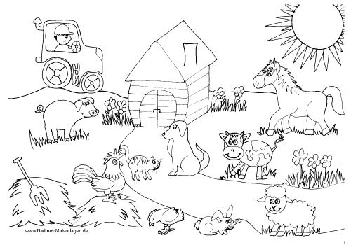 Tierfreunde auf dem Bauernhof mit Traktor