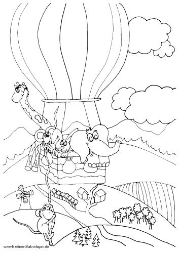 Tierfreunde fliegen im Heißluftballon