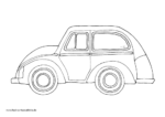Ausmalbild Auto mit Rädern