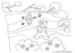 Bär mit Honigtopf