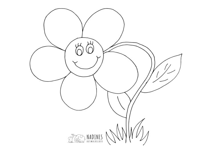 Ausmalbild Fruehlingsblume