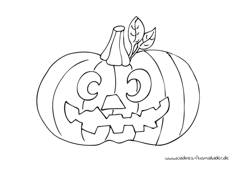 Ausmalbild Halloween Kürbis