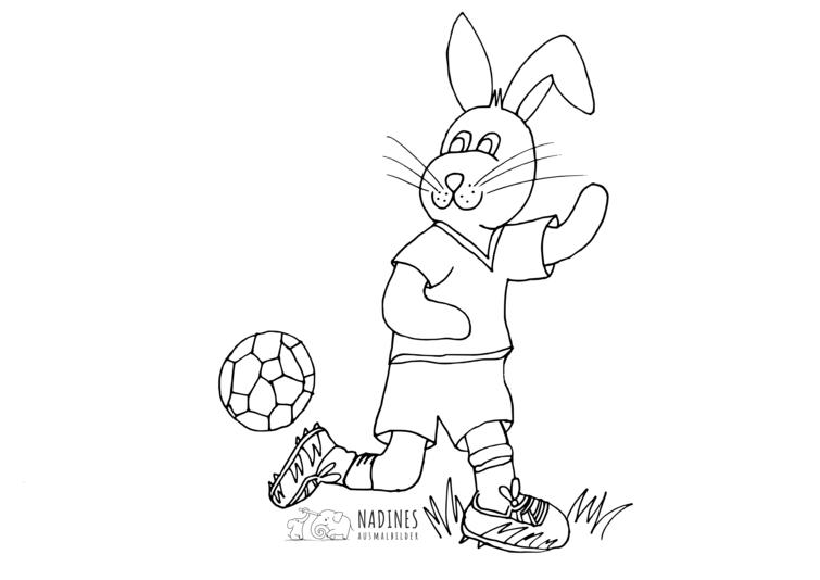 Hase Spielt Fussball Nadines Ausmalbilder