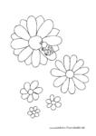 Kleiner Marienkäfer mit bunten Blumen
