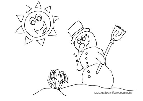 Ausmalbilder Winter - Nadines Ausmalbilder