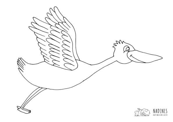Ausmalbild Storch