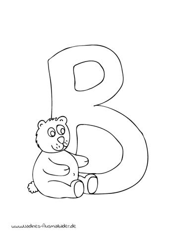 Tieralphabet ABC Buchstabe B mit Bär