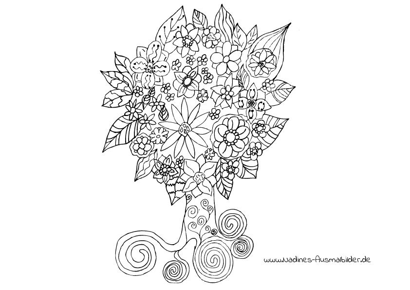 Wunderbaum Ausmalbilder Erwachsene