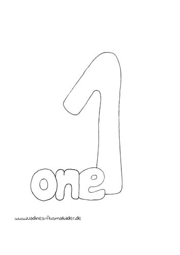 Englische Zahlen – 1 One