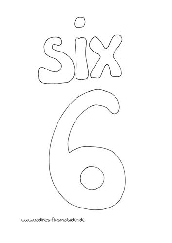 Englische Zahlen – 6 Six
