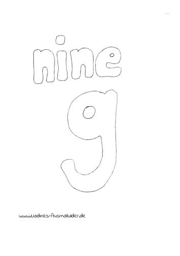 Englische Zahlen – 9 Nine