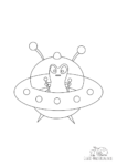Ausmalbild Alien Raumschiff