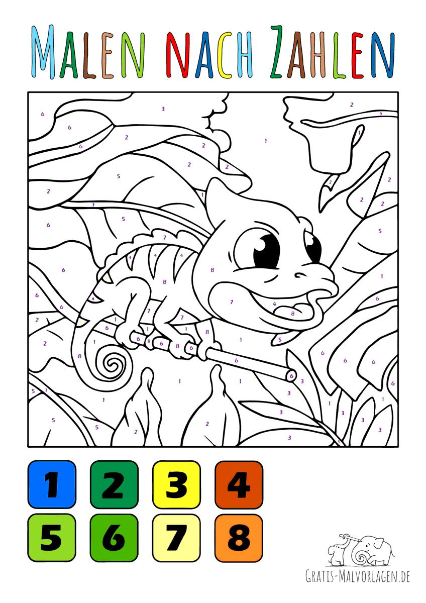 Baby Chamäleon - Malen nach Zahlen