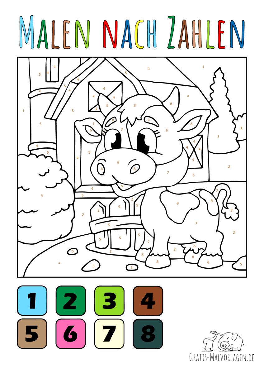 Baby Kuh - Malen nach Zahlen