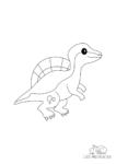 Ausmalbild Baby Spinosaurus