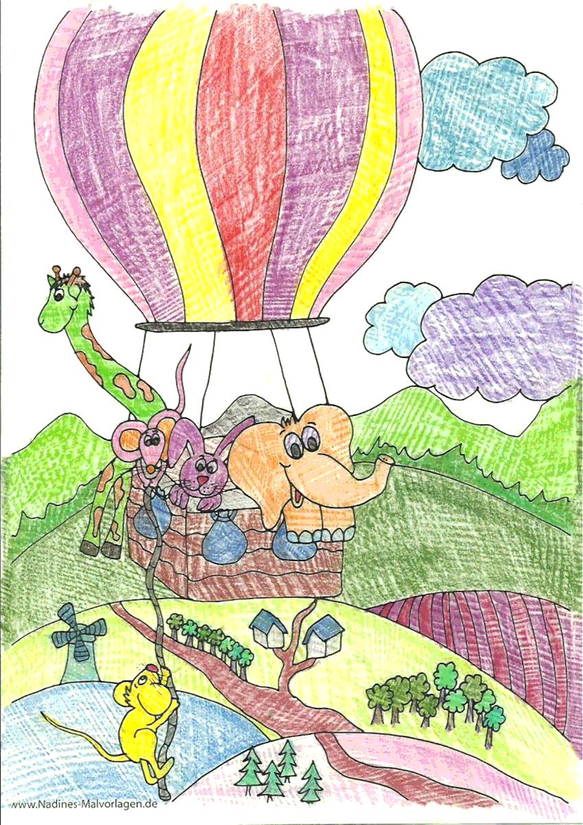 Ballonfahrt - Maria 8 Jahre