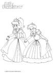 Ausmalbild Bibi Blocksberg als Prinzessin