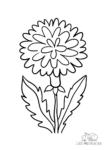 Ausmalbild Blühender Löwenzahn gelb