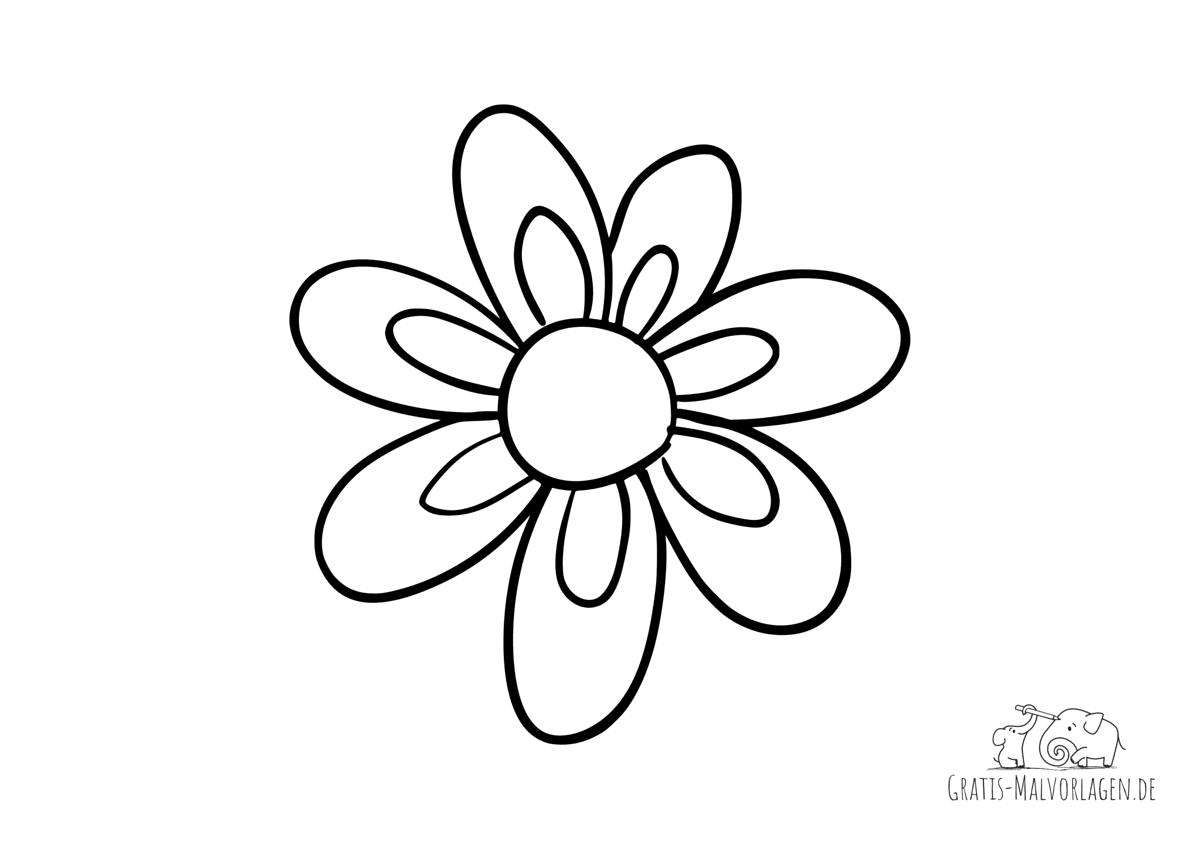 Ausmalbild Blume - Blüte