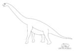 Ausmalbild Brachiosaurus - Armechse