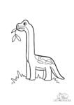Ausmalbild Brachiosaurus Dinosaurier