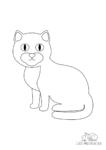 Ausmalbild Britisch Kurzhaar Katze