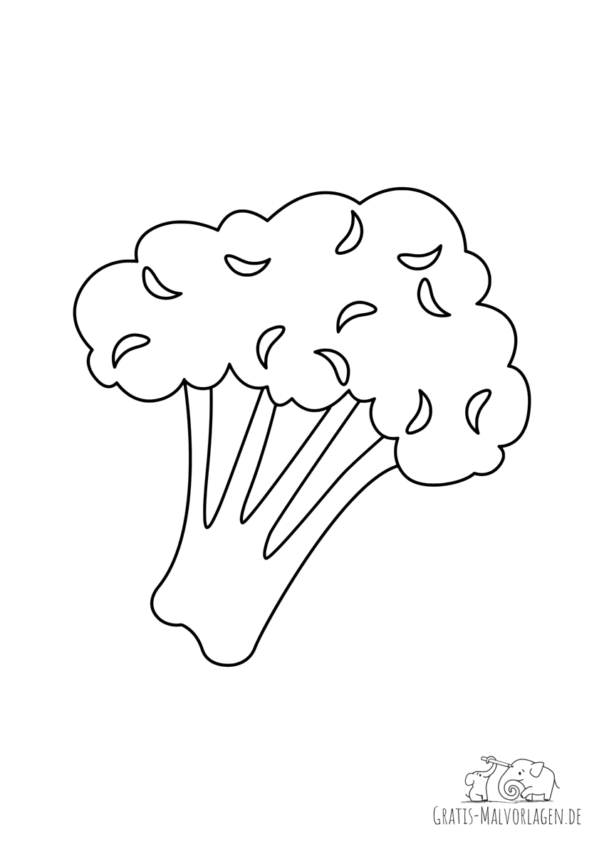 Ausmalbild Broccoli
