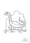 Ausmalbild Brontosaurus Donnerechse Dinosaurier