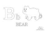 Buchstabe B steht für Bear (Englisch)