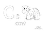 Buchstabe C steht für Cow (Englisch)