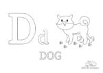 Buchstabe D steht für Dog (Englisch)