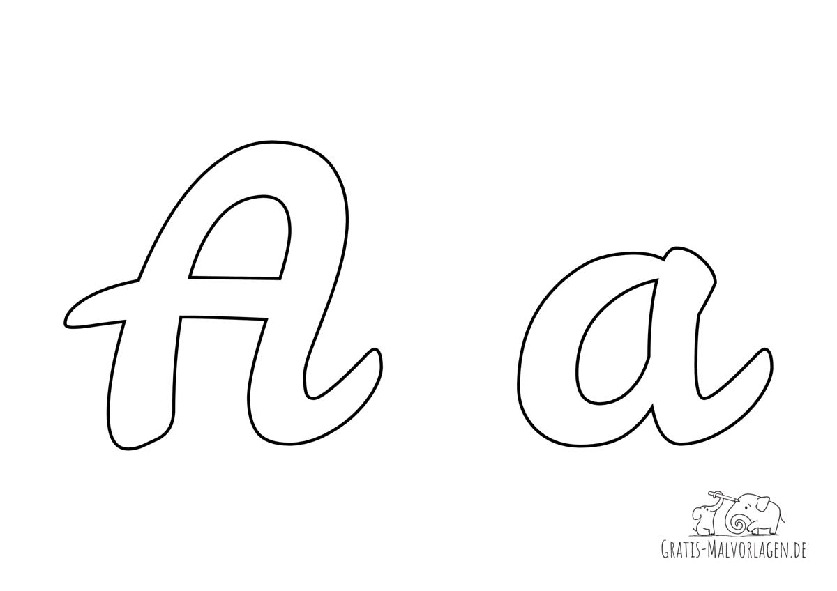 Ausmalbild Buchstabe großes und kleines A