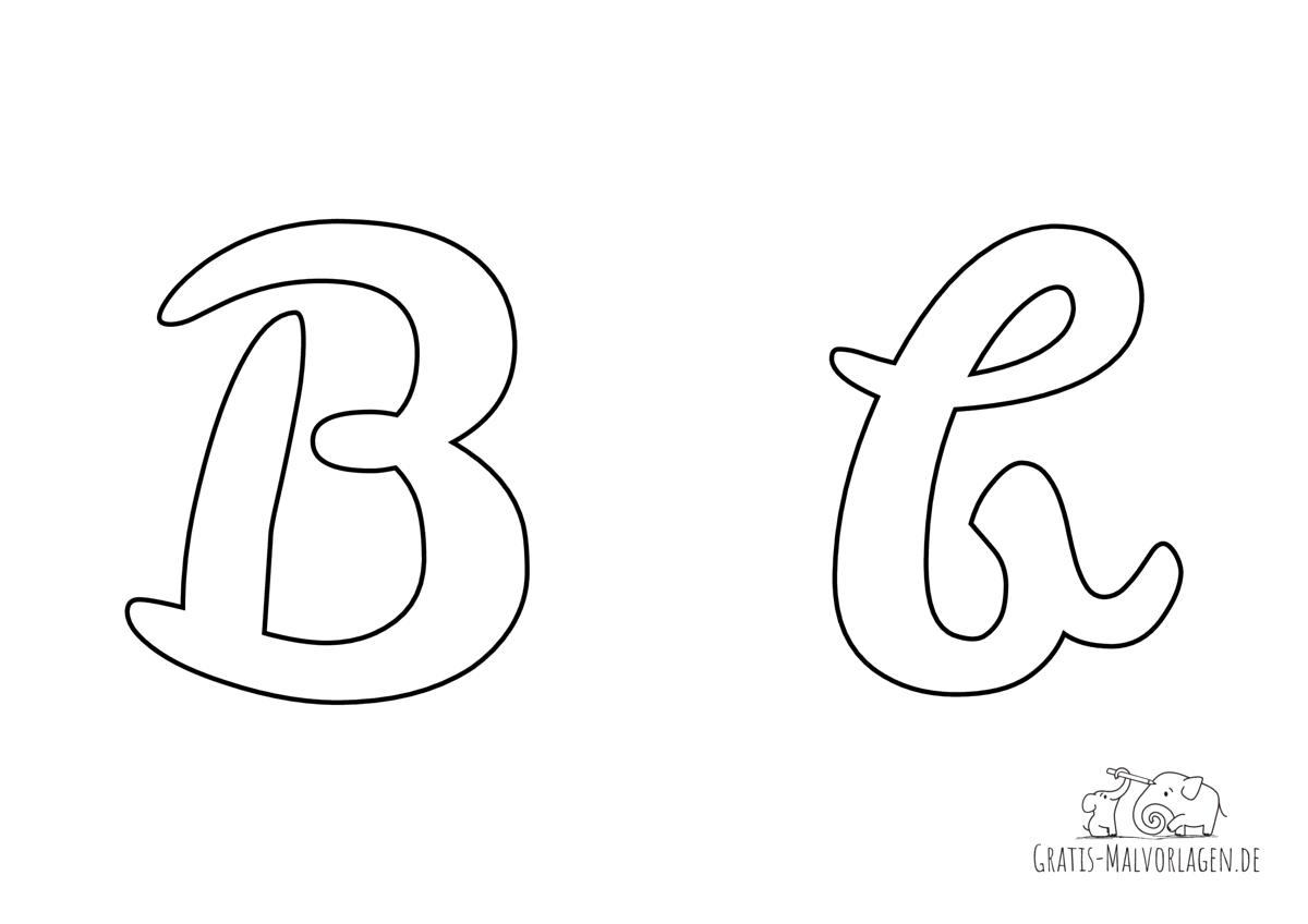 Ausmalbild Buchstabe großes und kleines B