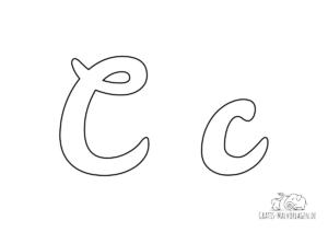 Ausmalbild Buchstabe großes und kleines C