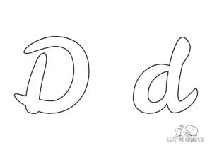 Ausmalbild Buchstabe großes und kleines D