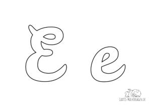 Ausmalbild Buchstabe großes und kleines E
