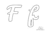 Ausmalbild Buchstabe großes und kleines F