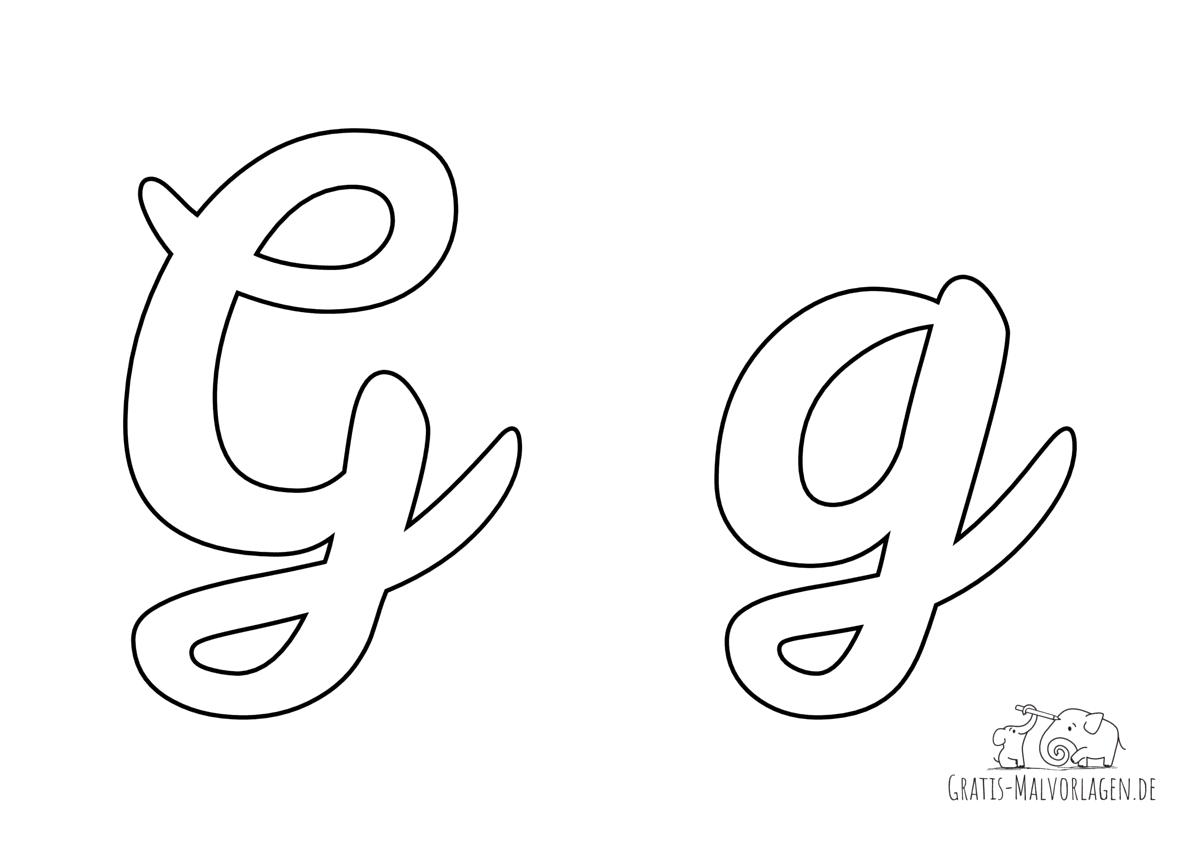 Ausmalbild Buchstabe großes und kleines G