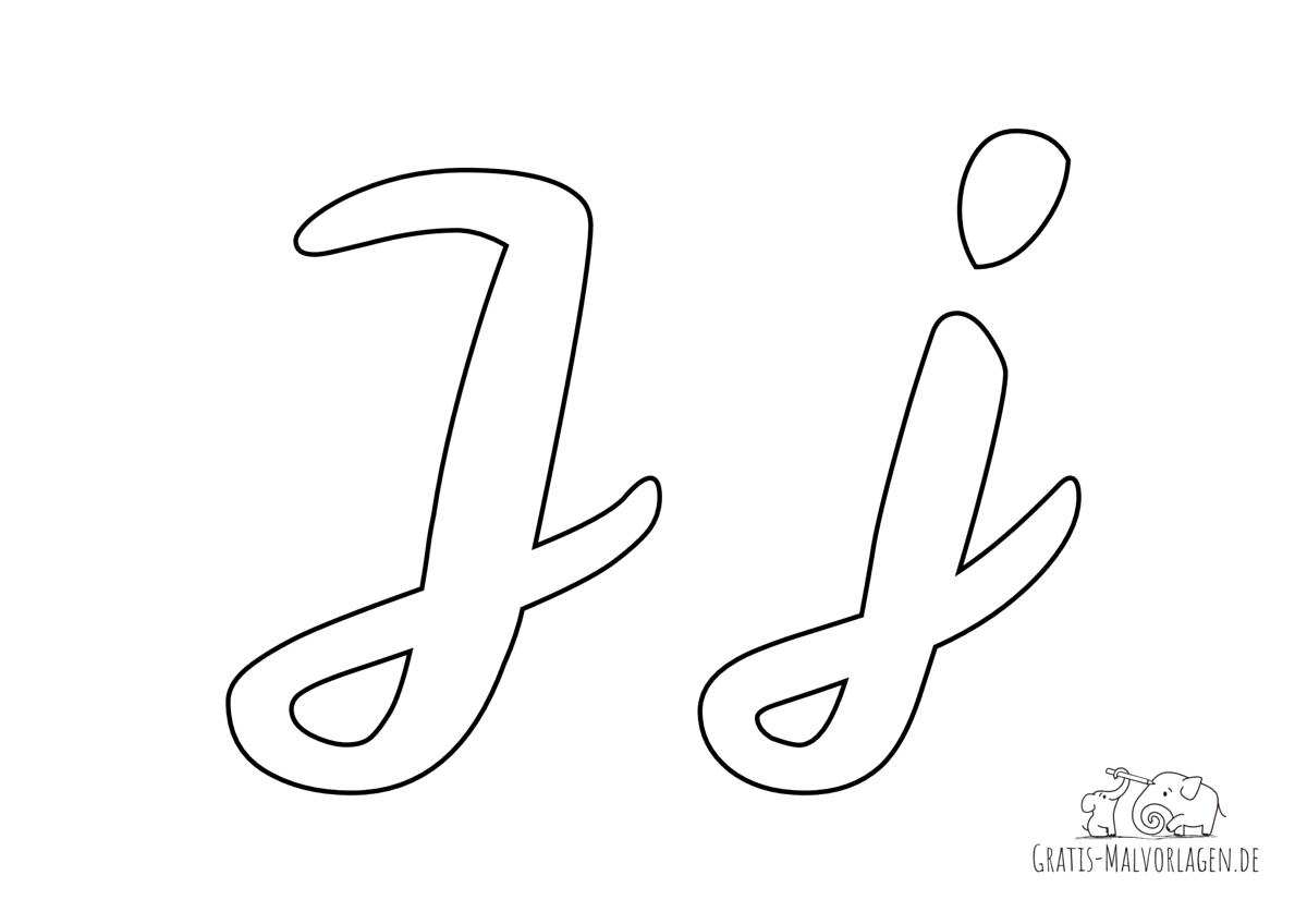 Ausmalbild Buchstabe großes und kleines J