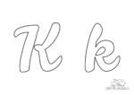 Ausmalbild Buchstabe großes und kleines K