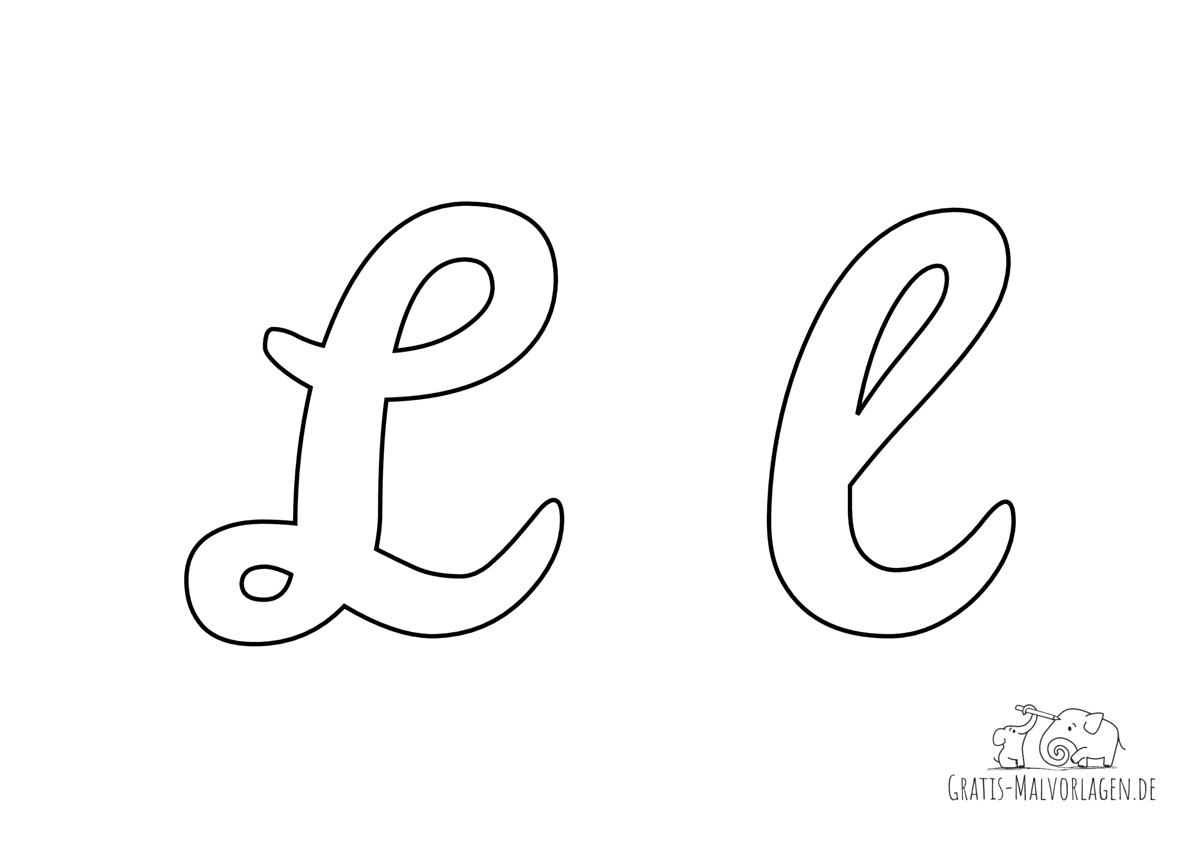 Ausmalbild Buchstabe großes und kleines L