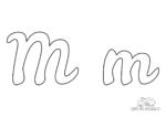 Ausmalbild Buchstabe großes und kleines M