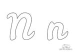 Ausmalbild Buchstabe großes und kleines N