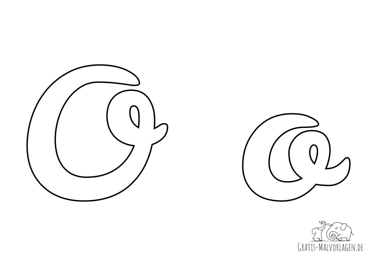Ausmalbild Buchstabe großes und kleines O