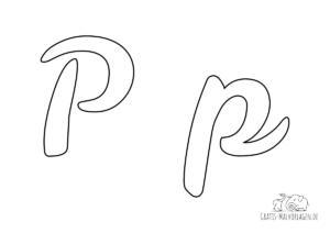 Ausmalbild Buchstabe großes und kleines P